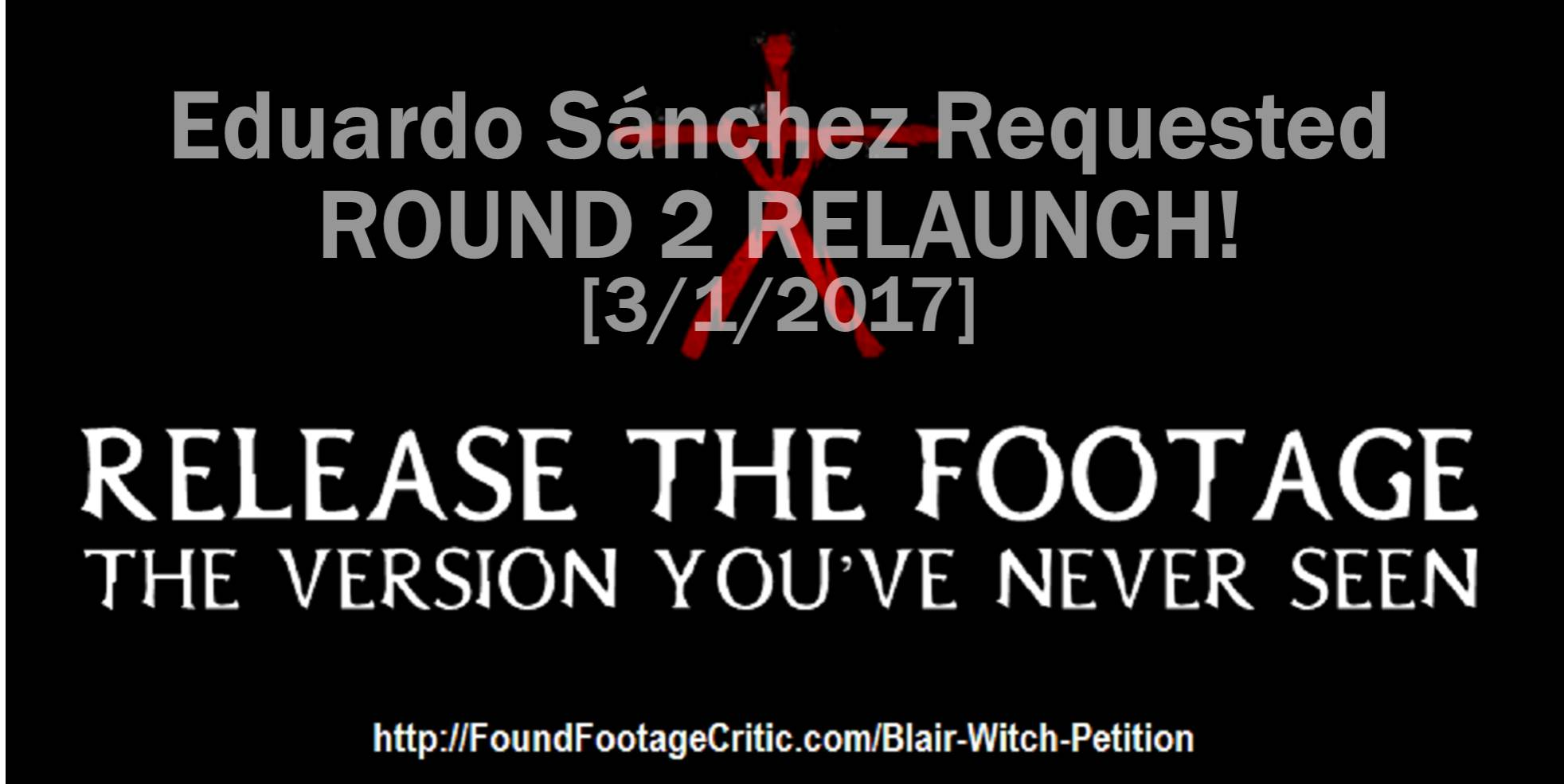 Blair Witch Petition Relaunch
