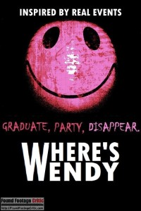 Where's Wendy (2016) - Found Footage Films Movie Poster (Found Footage Horror)